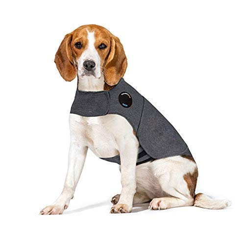 Thunder Dog Anxiety Jacket Anti-Anxiety Shirt Stress Relief Keep Calm Clothes, Heather Gray (M) by Thunder