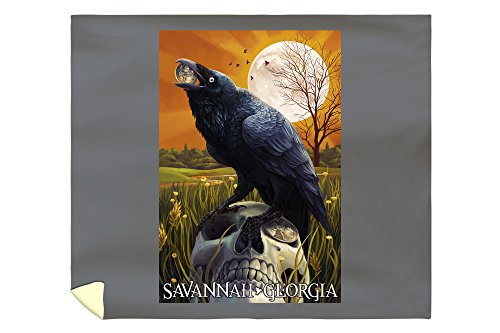 Raven and Moon - Savannah, GA (88x104 King Microfiber Duvet Cover)