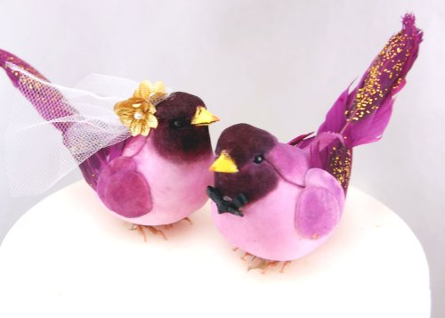 Fancy Finch Cake Topper: Glittery