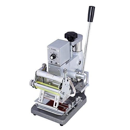 SUNCOO Hot Foil Stamping Printing Machine Manual Tipper Stamper PVC Card w/2 Roll Foil by SUNCOO