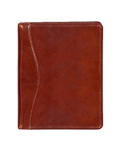 Scully 5012-06-28-F Italian Leather Letter Size Pad - Cognac