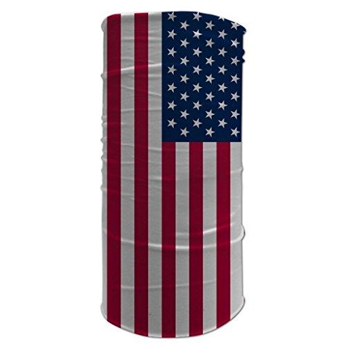 Tubular Neck Warmer 12 in 1 Sports Bandana American Flag Biker Balaclava Head Wrap (Morf Suit)