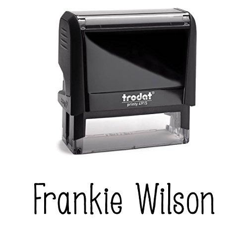 Customizable Custom Font With Personalized Name. Great Labelling Self Inking Stamp With Unique Font. Perfect For Routine Paperwork And Regular Signing Of Name. Signature Stamp, Black Ink Stamper