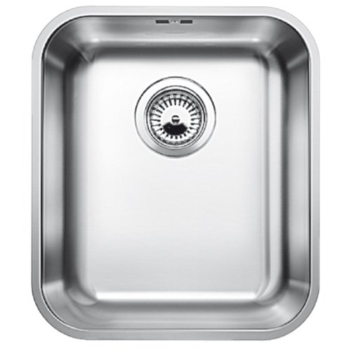 (Blanco Blancosupra 340-U 518199 Sink with 1 Basin and without Automatic Basket Strainer Brushed Stainless Steel)