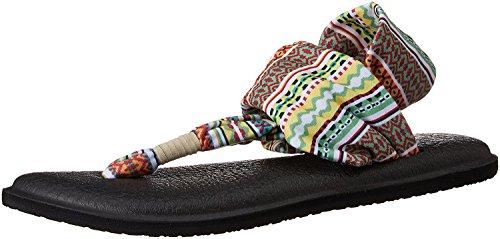 Sanuk Kvinners Yoga Fatle To Flip Flop (5 B (m) Oss / 36 Eur, Sitrus Lanai Teppe)
