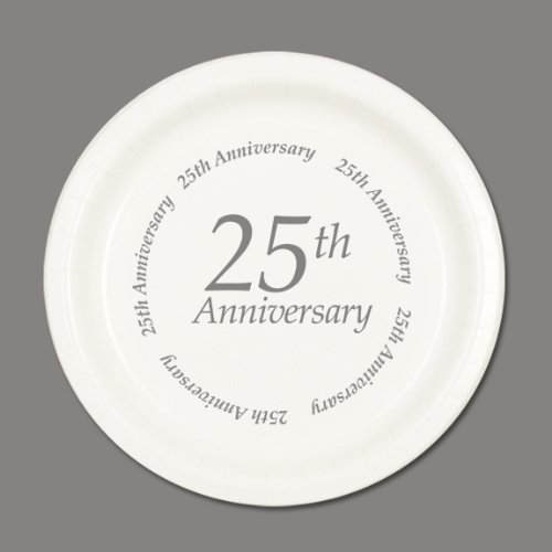 Partypro 25TH ANNIVERSARY DINNER PLATE (8/PKG) by