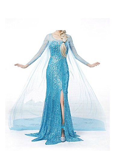[Dongya Princess Dress Party Dress] (Frozen Costume Elsa For Adults)