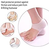 Purastep Silicone Gel Dry Hard Cracked Heel Repair Swelling Pain Relief Cream Foot Care Support Cushion/Pad Socks (Free Size) - 1 Pair