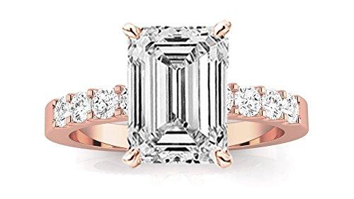0.75 Ct Emerald Cut Diamond - 5