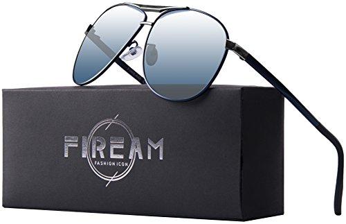 Mens Women Hot Classic Retro Driving Polarized Wayfarer 100% UV400 Protection Rectangle Sunglasses (BluesliverFrame/BlueLens, - Sunglasses Hot