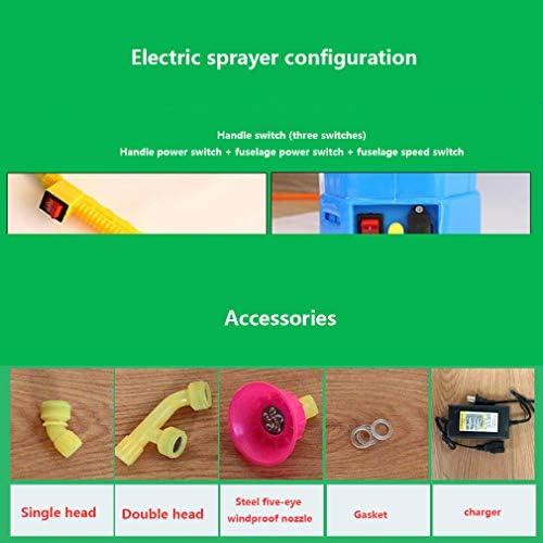 インテリジェントな 携帯 電気噴霧器,充電 式 彼-イオン電池 多機能 噴霧器 バックパック,ウルトラコンテナ 調整可能なスプレーパターン 8ah 15x6.5x9.5cm (6x3x4インチ)