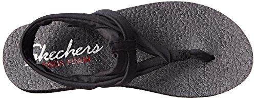 Skechers Meditationstudio Kicks - Sandalias Mujer Negro - negro