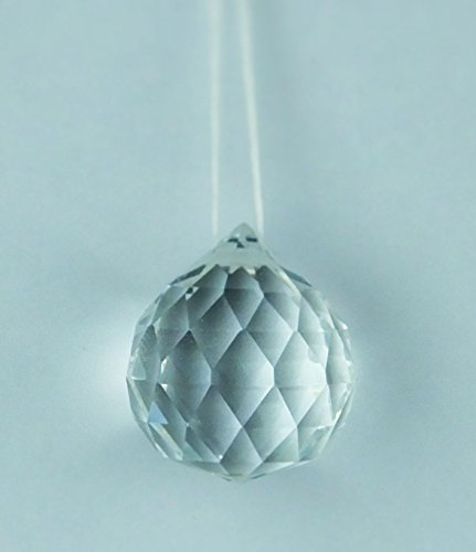 3 Glass Crystal Small Crystal Ball Christmas Tree Hanging Baubles Sparkle Xmas Decoration (Crystal Baubles Christmas)