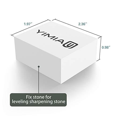 Sharpening Stone Kit, YIMIA 4 Side Grit 400/1000 3000/8000 Whetstone, Knife Sharpener Waterstone with Non-Slip Bamboo Base & Flattening Stone & Angle Guide by YIMIA (Image #4)