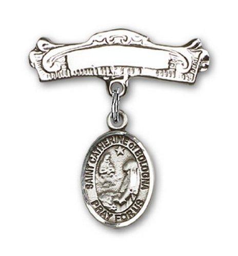 Icecarats Créatrice De Bijoux En Argent Sterling St. Catherine De Bologne Charme Arqué Broches Badge 7/8 X 7/8
