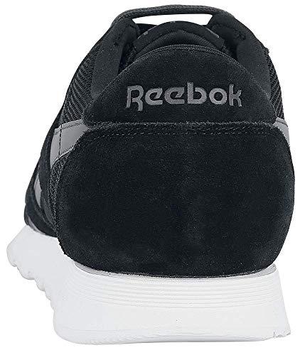 Om Sportive grigio Nero Nylon Scarpe Reebok bianco Cl w4WqF