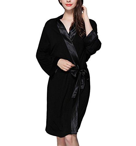 modalec uomo Asskyus da donna notte e pigiama Accappatoio pigiama un per da Nero da BwXZ7p