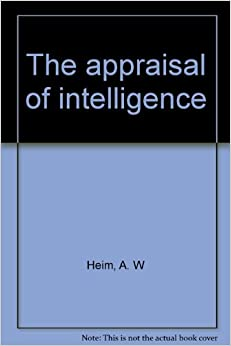 Book The appraisal of intelligence