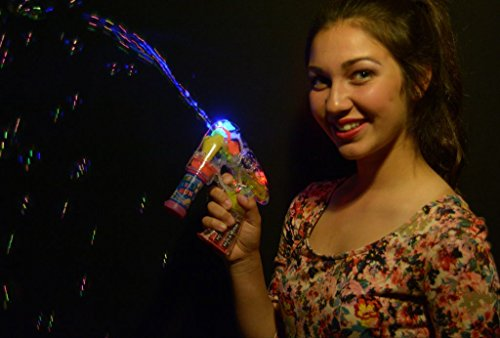 Glow With Us Light Up LED Bubble Gun (Bulk Wholesale Pack of 6) (Wholesale Bubble Guns)