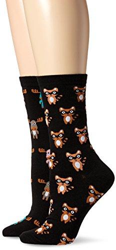 K. Bell Womens Novelty 2 Pack Crew Socks