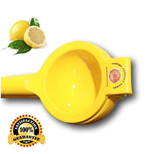 9 Ounce Juice (Best Manual Citrus Lemon Squeezer-Premium Aluminium Handheld Lime Press Juicer-Quality Commercial Hand Steel Lemonade Maker- Lemon Juice Wedge Extractor, 9 Ounces, Color)