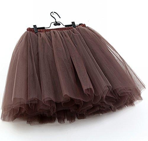 Jupe Jupe Chocolat Enjoliveur Jupe glisse Ballet Longueur 50cm demi SCFL Enjambeur Femme Tutu 7q0dxwXt