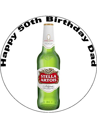 Outstanding 7 5 Stella Artois Bottle Personalised Edible Icing Birthday Cake Personalised Birthday Cards Epsylily Jamesorg