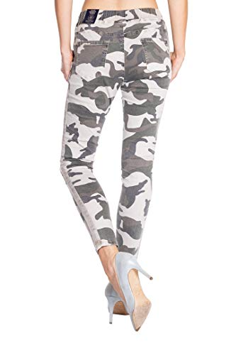Mujer Blue Liso Monkey Vaqueros Camuflaje Jeans Para Skinny rxY1TYwI