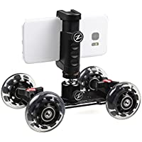 Ztylus Pico Dolly Kit - 4 Wheel Rolling Slider Dolly Car / Z-Grip Smartphone Rig Mount / Universal Stabilizing Holder / Smooth Photo & Video Shots / iPhone, Samsung, Galaxy Photographer