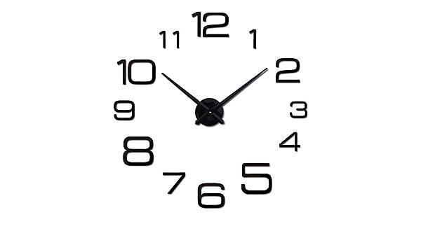 Amazon.com: Wall Clock 3D Acrylic Mirror Clocks Reloj De Pared Quartz Watch Home Living Room Modern DIY: Home & Kitchen