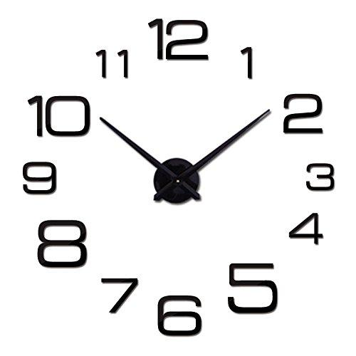 Wall Clock 3D Acrylic Mirror Clocks Reloj De Pared Quartz Watch Home Living Room Modern DIY