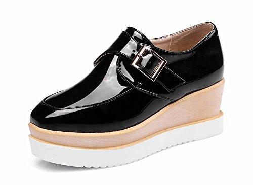 De De Mujeres Cuñas Tamaño De 2018 SHINIK Primavera Tacón Otoño Plataforma 43 Cómodos del Negro Tacón Alto De Alto Zapatos 32 del La Zapatos Y Las Estudiante pwA88Ytx