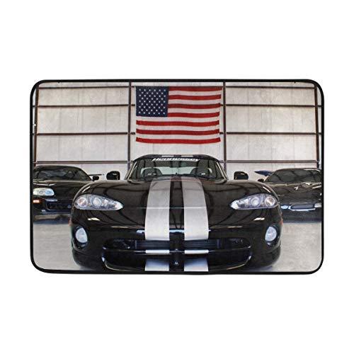 Dodge Viper Sports Car Front View Doormat Indoor Outdoor Entrance Floor Mat Bathroom 23.6 X 15.7 Inch ()