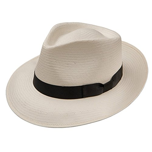 Stetson Reward Shantung Straw Hat (Medium, Natural) ()