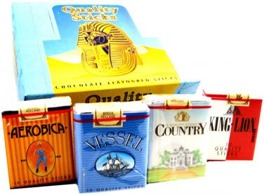 Quality Sticks Chocolate Cigarettes, Packs, 24 count box by Quality Candy