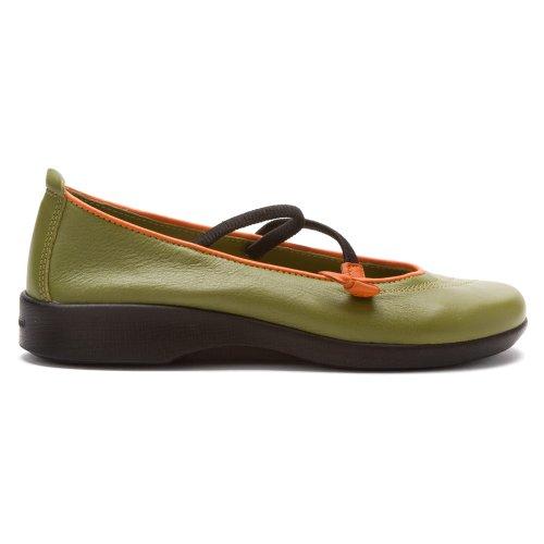 Arcopedico Womens Mary Slip Vitoria Jane Green Flats On Shoe ZZwgHr