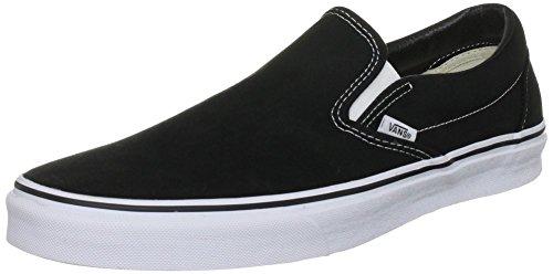Vans Adult Slip-On Core Classics, Black (Canvas) 9 Mens, 10.5 Womens