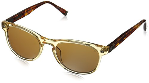 John Varvatos Men's V774 Round Polarized Sunglasses,Vintage Yellow,51 - Sunglasses Bowery