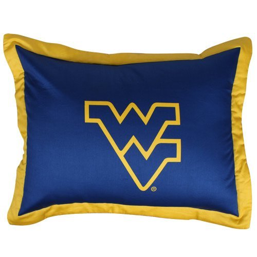 College West Virginia Mountaineers Navy Blue Collegiate Pillow Sham by College Covers