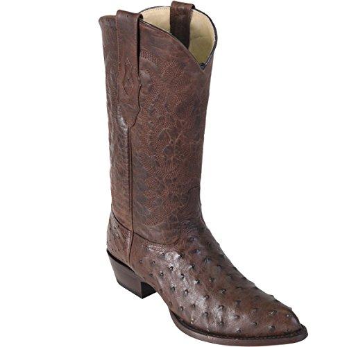Brown LeatherJ boots Ostrich Original Altos Los Toe Boot qfaSW