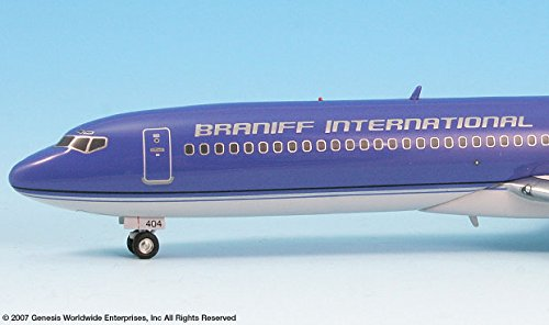 Braniff Ultra Purple//Silver 727-200 Airplane Miniature Model Diecast 1:200 Part# A012-IF722015