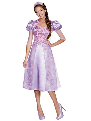 Disguise Women's Rapunzel Deluxe Adult Costume, Purple, Medium -