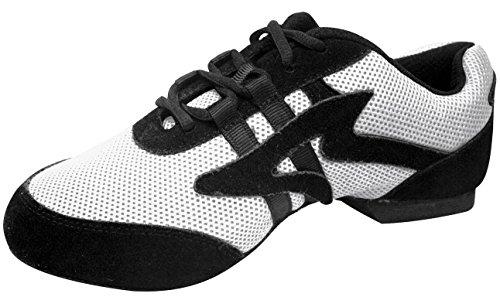 Sansha Salsette 1 Jazz Sneaker Bianco / Nero