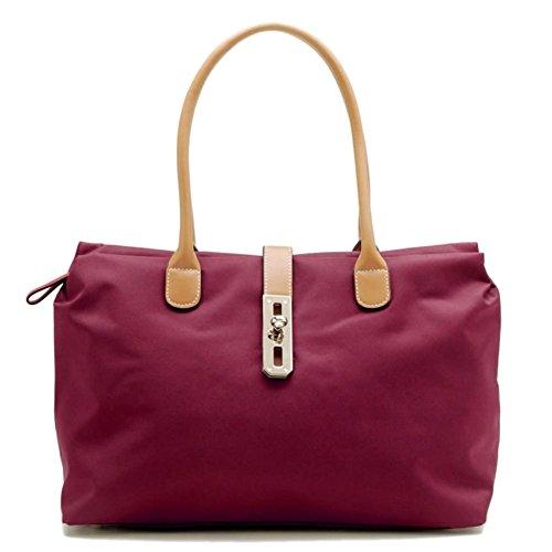 Tosca Women's Dual Strap Fashion Handbag Style 9200 (Burgundy)