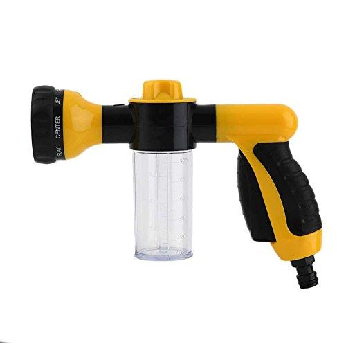 OWIKAR Foam Sprayer Cannon, High Pressure Foam Car Washer Gun Garden Hose Nozzle Clean Pipe Washer Sprayer with 8 Adjustable Spray Patterns for Car Washing, Gardening, Pet Washing (Yellow)