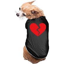 YEARla Heart Break Broken Heart Dog Clothes Tshirt Dress Black