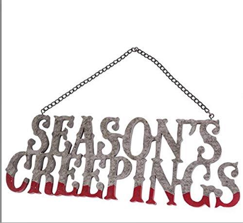 Floor 9 Victorian Trading Co Halloween Sign Season's Creepings -
