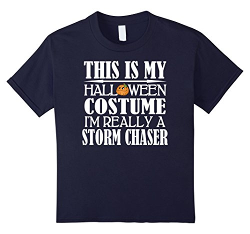[Kids Storm Chasing Halloween Costume Shirt 12 Navy] (Storm Halloween Costume Ideas)