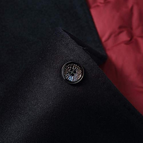 4xl Manteau M De couleur Laine S Épaisse Le Et Chaude Vers D'hiver Veste Des Taille D'automne Qkdsa Bas Hommes Noir Gray ZdqfZw
