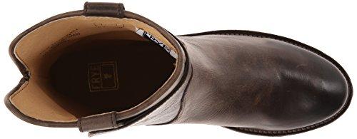 Frye Paige Short de la mujer Botas de equitación Slate Washed Antique Pull-Up Leather-76959
